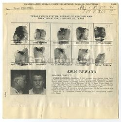 Wanted Notice - Fred Jennings/escaped - Harlem State Farm, Huntsville Texas 1932