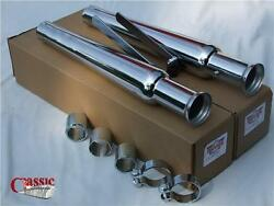 Custom Retro Style Silencers Pair To Suit Classic Motorcycles