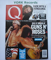 Q Magazine - July 1991 - Guns Nand039 Roses / Elvis Costello / Crowded House