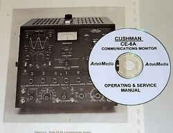 Cushman Ce-6a Communications Monitor Operating And Service Manual