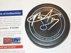 Rod Brindand039amour Signed St. Louis Blues Official Game Puck W/ Psa Coa