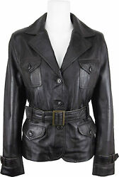 Unicorn Womens Fashion Leather Jacket Made With Brown Soft Touch Leather Eh