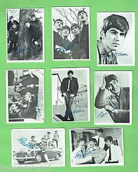D47. 1. Lot Of Eight 1960s Beatles Trading Cards