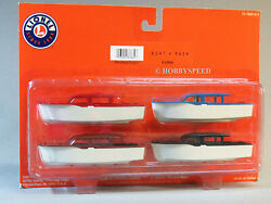 Lionel Boat 4 Pack O Gauge Building Scenery Train For Flat Car Ship 6-37834 New