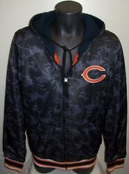 Chicago Bears Black Ops Camo Reversible Poly/fleece Hoody Jacket Camouflage Med