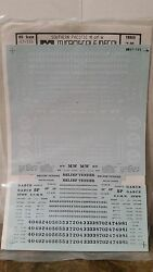 Cut Sheet Micro Scale Decals 87-155 Southern Pacific M Of W Cut Sheet