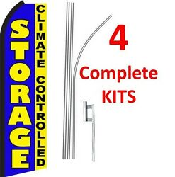 4 (four) STORAGE CLIMATE CONTROLLED 15' Standard Swooper KIT