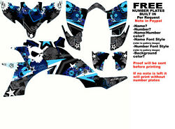 Dfr Subculture Graphic Kit Black/blue Sides/fenders Yamaha Yfz450 Yfz 450