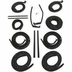 1957 Cadillac Series 60 62 And Deville 4dr Hardtops Body Weatherstrip Seal Kit