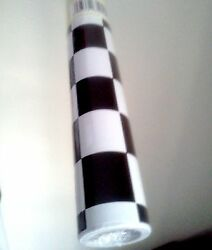 4 Rolls Checkered Flag Black White Tile Self Adhesive Liner Contact Wall Paper