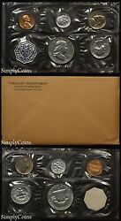 1962 Proof Set With Coa Flat Pack Original Envelope Us Mint Silver Coins Mq