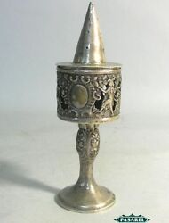 Antique Silver Spice Tower Box Besamim Germany Ca 1870
