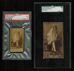 Psa 3 And Sgc 3 Isadora Duncan 1880's Cigarette Cards Two Cards In This Lot Rare