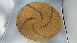Native American Basket Yokuts Tray 13 X 3 1/2 Tall Or Older