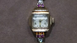 Fairfax 14karat Solid Rose Gold Watch With Diamond And Ruby Vintage Lqqk