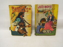 Lot Of 2 Every Child's Library Books Robinson Crusoe And Jo's Boys, Defoe And Alcott