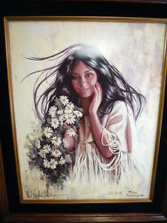 Native American Crow Artist Penni Anne Cross Title Summers Smiling Faces
