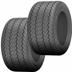 Two 20x10.00-10 Kenda K389 Hole-n-1 Utility Work Or Lifted Golf Cart Tires 6ply