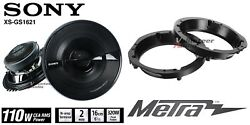Sony Xsgs1621 6.5 Speakers + Adapters For Harley Davidson Motorcycles