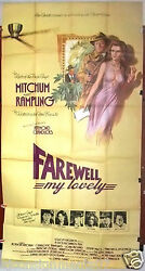 Farewell My Lovely {robert Mitch} -3sht Org 41x85 British Movie Poster 1970s