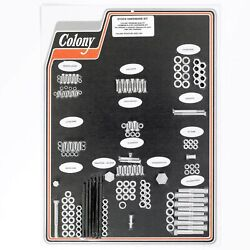 Colony 8302 Cad Complete Stock Hardware Kit - 1948 - 1957 Panhead - Cad Plated
