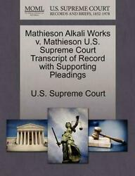 Mathieson Alkali Works v. Mathieson U.S. Supreme Court Transcript of Record with