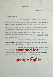 Ted Morgan - Letter - Signed - Barnaby Conrad - 1983 - Churchill - Maugham - Fdr