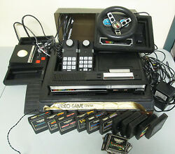colecovision video game system lot set 11