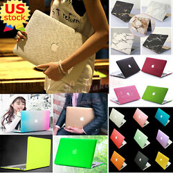 Marble/ Silk Leather/ Quicksand Matt Hard Case Cover For Macbook Air Pro 11/13