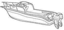 7oz STYLED TO FIT BOAT COVER HYDRA-SPORT 2500 WA W TWIN ENGINES 1993