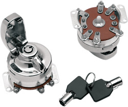 Drag Specialties Round Key Internal Contact Switch Chrome 73-93 Harley Fxdg Fxef