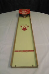 magnetic bowling alley toy spears 1950