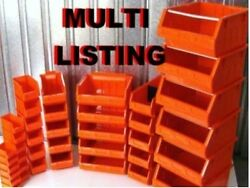 Red Plastic Parts Bins - Small Component Storage Boxes Picking Bin Workshop Box