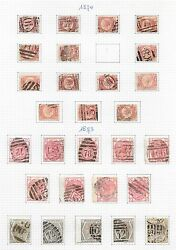 Great Britain Stamps Collection Of 28 Plate Numbers Victoria High Value
