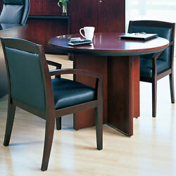 Round Conference Table Set With 2 Or 4 Chairs Office Room Cherry Or Mahogany New