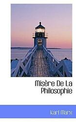 Mis Re De La Philosophie By Karl Marx French Hardcover Book Free Shipping
