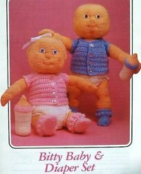 Crochet Bitty Baby Doll And Diaper Set + 3 Free Clothing Patterns Annie's Attic