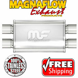 Magnaflow 11385 Muffler Stainless Steel 2.25 Id Dual In Dual Out 4 X 9 Oval 20