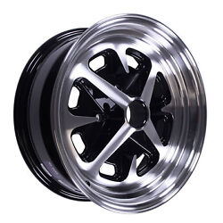 15 X 6 Magnum 400 Alloy Wheel Gloss Black Set With Caps And Lug Nuts 4 X 114.3