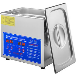 Vevor Industry Ultrasonic Cleaner 3l New Stainless Steel Heated Heater W/timer