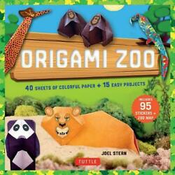 Origami Zoo Kit: Origami Kit with Book 40 Papers 95 Stickers Zoo Map : Make