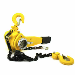 New 1-1/2 Ton 5ft Ratcheting Lever Block Chain Hoist Come Along Puller Pulley