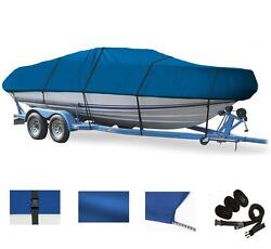 Blue Boat Cover For Chaparral 225 Ssi Wide Tech W/o Anchor Roller 2012-2017