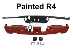 Painted Red Rear Step Bumper Top Pad Lic Light WSensor Hole For 09-15 Ram 1500
