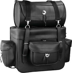 """Mossi Large Motorcycle Touring Travel Bags 18"""" x 16"""" x 9"""" Barrel Bag 16"""" x 9"""""""