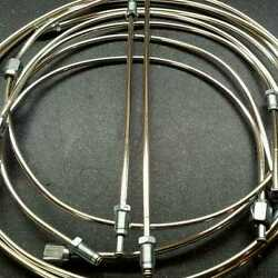 Triumph Tr4a Live Axle - Full Polished Cupro-nickel Brake Pipe Set