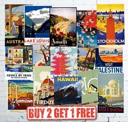 Large Vintage Travel And Railway Retro Popular Posters Wall Art Prints A1/a2