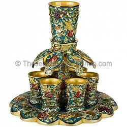 Turquoise - Seven Species Wine Fountain Cups