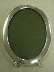 Vintage William B Kerr And Co Sterling Silver Oval Picture Frame 75.3 Grams