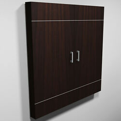 Modern Presentation Board Office Dry Erase Cabinet White Wood Wooden With Metal